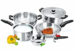 Sheffield Classic Stainless Steel 6 Piece Cookware Set, Non-Anodised