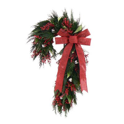 Urban Florals Holiday Jingle Bell Swag
