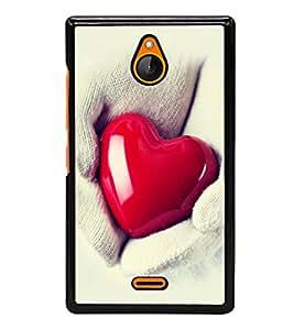 printtech Soft Heart Hands Back Case Cover for Nokia X2 Dual SIM