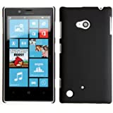 Ultra Thin Rubberized Matte Hard Case Back Cover for Nokia Lumia 720 (Black)