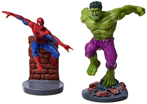 2 Piece Commemorative PVC Figurines Set - Secret Wars Spider-man & Hulk