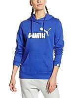 Puma Sudadera con Capucha Ess No.1 Hoody Fl W (Azul)