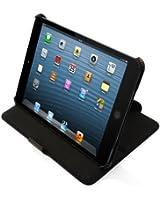 LEICKE MANNA | Étui / housse de protection luxe pour iPad Mini 3, iPad Mini 2 Retina et iPad Mini | avec surpiqûres en rouges & fonction de stationnement (idéal pour la lecture de vidéos & textes)