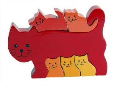 Cheap Fun ImagiPLAY 10132 Cat Family Puzzle (B002HMX2WW)