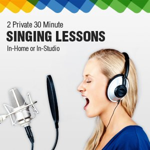 2 Private 30 Minute Singing Lessons with a Local, Qualified TakeLessons Instructor: Learn in Your Home or Your Teacher's Studio
