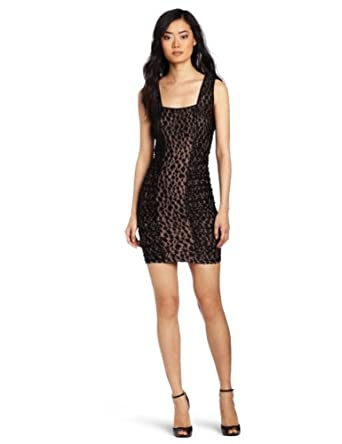 BCBGMAXAZRIA Women's Renee Knit Sportswear Dress, Black, X-Small