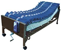"Big Sale Drive Medical 5"" Med Aire Low Air Loss Mattress Overlay System with APP, Blue, 5"""