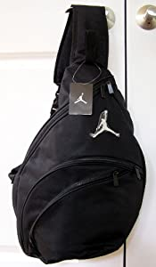 Amazon Com Nike Air Jordan Black And Blue Sling Backpack