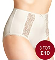 Front Panelled Lace Full Briefs