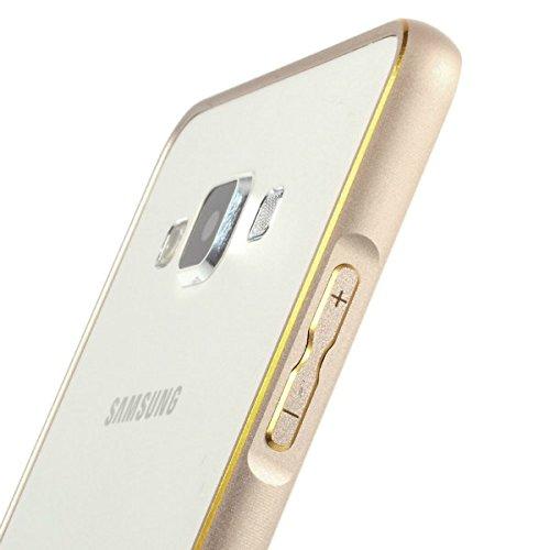 Kapa Dual Tone Circular Edge Shaped Metal Bumper Case Cover for Samsung Galaxy J7 - Gold