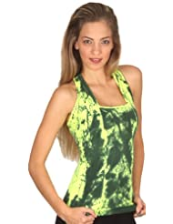 Margarita Activewear Yellow Batik Tie Dye Top