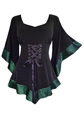 dare-to-wear-victorian-gothic-boho-womens-plus-size-treasure-corset-top-in-evergreen-2x