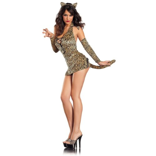 Kitty Jungle Costume - Medium/Large - Dress Size 8-12