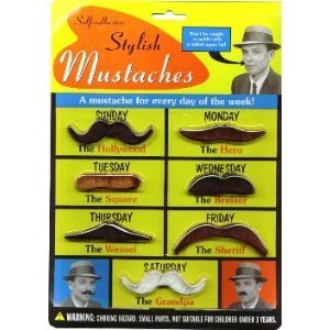 Accoutrements Bwacky Stylish Costume Set Mustaches - 1