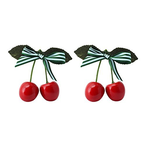 2pcs-girls-sweet-splice-striped-cherry-bow-alligator-hair-clips-hairpin-headwear-by-styleinside
