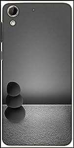 Snoogg Black Zen Stones Background Designer Protective Back Case Cover For HTC Desire 728