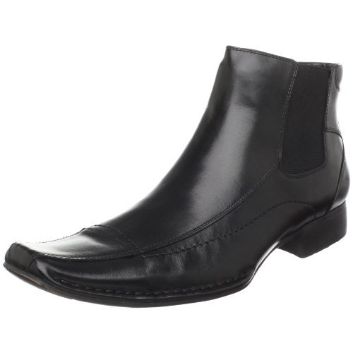 Steve Madden Men's Bannir Dress Boot,Black Leather,8.5 M US