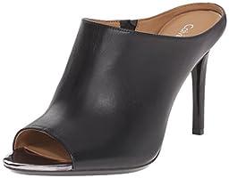 Calvin Klein Women\'s Nola Slide Sandal, Black/Anthracite, 8 M US