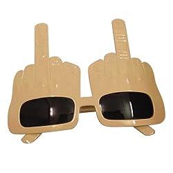 Funcart Ivory Middle Finger Sunglasses