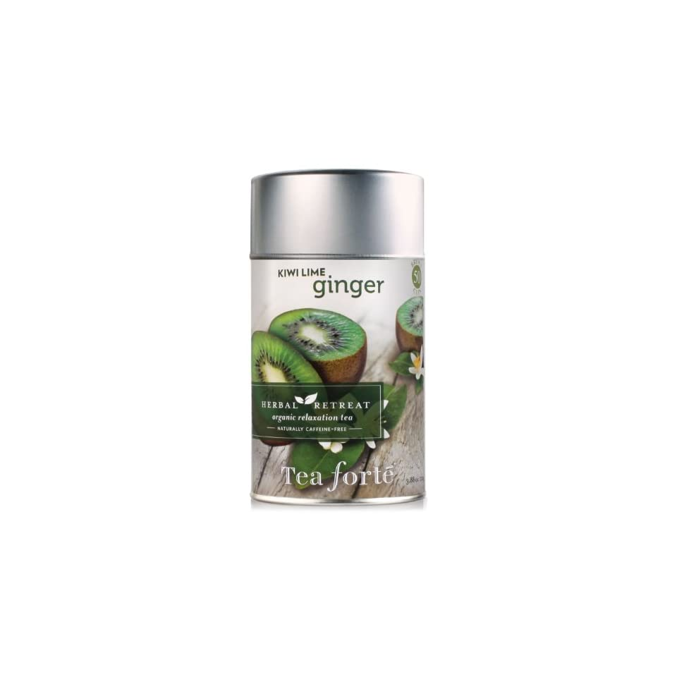 Tea Forte Loose Leaf Tea Canister   Kiwi Lime Ginger