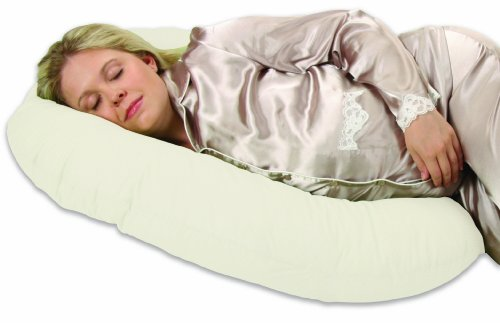 Leachco Snoogle Mini - Compact Side Sleeper Pregnancy Pillow - Ivory