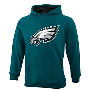 NFL Philadelphia Eagles 8-20 Youth Sportsman Pullover Fleece Hoodie, Green, Small