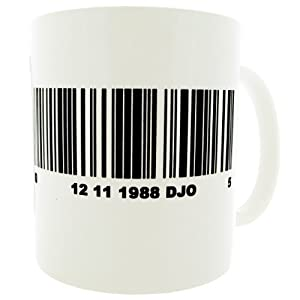 Personalised Barcode Gift Mug -MugsnKisses Collection.