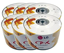 300pcs LG CD-R 52x 700MB 80Min Logo printed Top Premium Quality