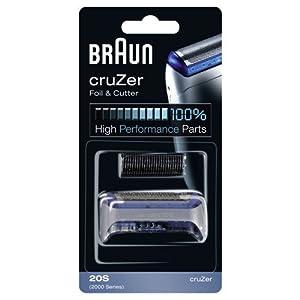 Braun - Combi-pack 20S - Láminas de recambio + portacuchillas para afeitadoras cruZer