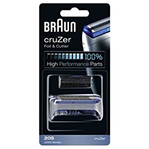 Braun - 81387934 - Combi-Pack 20S - Recharge Grille + Couteaux pour Rasoirs cruzer 2 / 3 / 4 / 5 Face / 6 Face