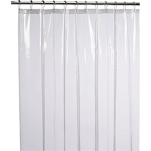 LiBa Mildew Resistant Anti-Bacterial PEVA Shower Curtain Liner, 72x72 Clear - Non Toxic, No Odor (Eco Shower Curtain Liner compare prices)