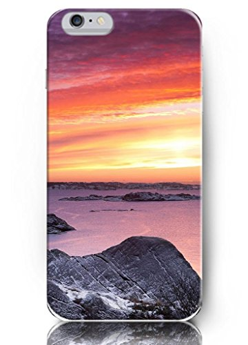 Ouo New Unique Vintage Hard Cover For 4.7 Inch Iphone 6 Case Rocks And Sunset Sky