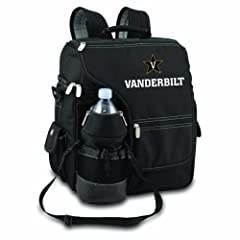 NCAA Vanderbilt Commodores Turismo Insulated Backpack Cooler by Picnic Time