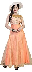 Surat Arts orange benglori Silk Anarkali Semi Stitched Dress Material