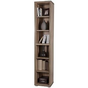 Libreria alta moderna componibile cinque mensole stretta for Libreria amazon