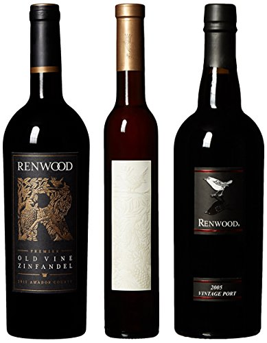Renwood Delightful Treat Port, Ice Wine, Old Vine Zin Mixed Pack, 2 X 750 Ml 1 X 375 Ml