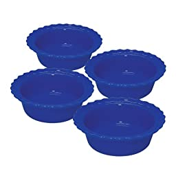 Chantal 5-inch Classic Individual Pie Dishes, Indigo Blue, Set of 4