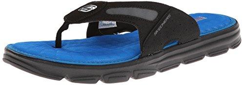 Skechers Men'S Uprush Flip Flop,Black/Blue,14 M Us front-878940