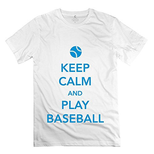 Ruifeng Man Keep Calm Play Baseball T-Shirt - S White