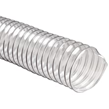 Flexadux R-2 PVC Duct Hose, Clear, For Use With Air, Fume