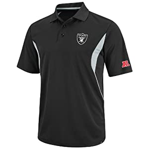 Oakland Raiders NFL Field Classic V Black Synthetic Polo by VF