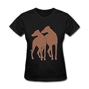 Heerinsy Women's Animal Dog Ohio Gray Hound Adoption Color Short Sleeve T-Shirt XXL