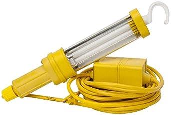 Woodhead 1097-3 Super-Safeway Handlamp, Industrial Duty, Fluorescent Bulb, Switch, 40W Lamp Wattage, PL-L40/41 Lamp Type, Cord Ballast Location, 3150 Lumens, 18/3 SJTOOW Cord Type, NEMA 5-15 Configuration, 120VAC at 60Hz Fixture Voltage, 25ft Cord Length
