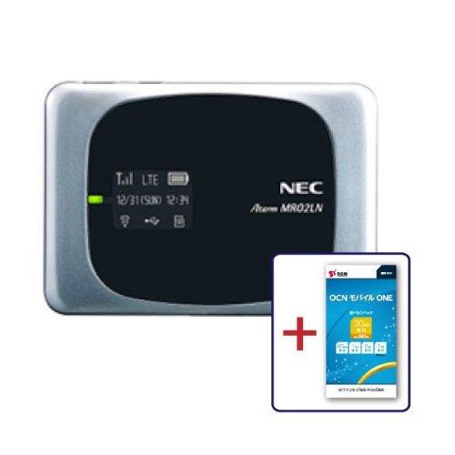 NTTコミュニケーションズ SIMフリーモバイルルーター(LTE対応)Aterm MR02LN シルバーOCN モバイル ONE マイクロSIM付き T0003828 PAMR02LN5S