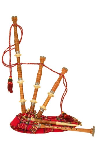 Bagpipe Half Size, Satinwood, Tartan Cvr