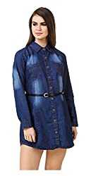 Brand Me Up Women's Dress (BMU-D27--M, Blue, Medium)