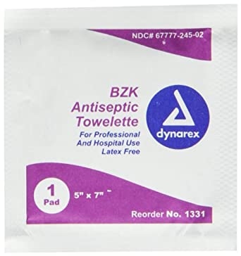 Pac-Kit 12-180 BZK First Aid Antiseptic Towelette (Box of 50)