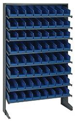 Steel Shelving Rack, 8 shelf, Single side Pick Rack, 36x60, NO BINS, RACK ONLY