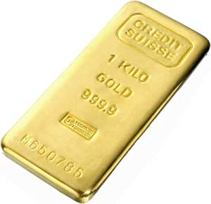 Gold Bars: One Kilo Gold Bar (Manufacturer Our Choice) 32.15 Troy Ounces