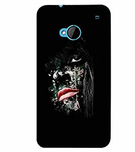PrintVisa Cool Boy Modern Art Face 3D Hard Polycarbonate Designer Back Case Cover for HTC One M7